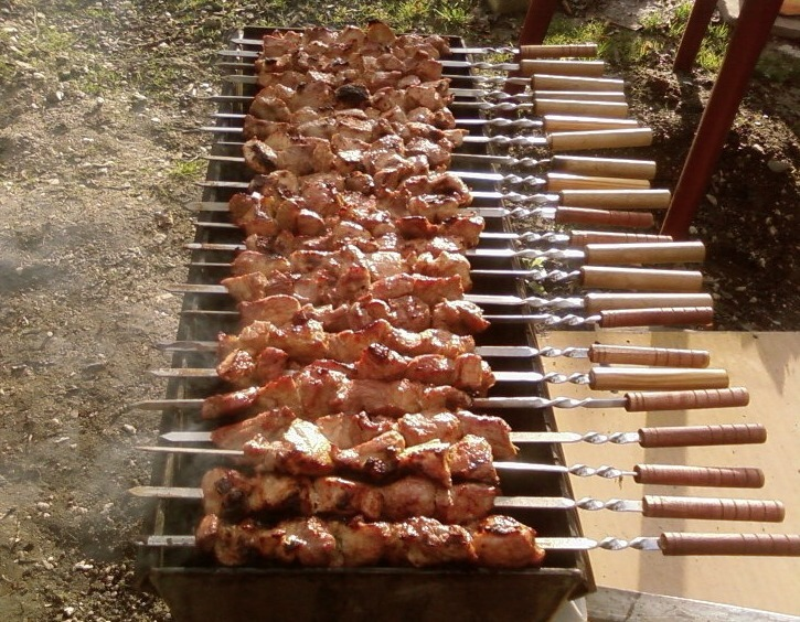 Шашлык из баранины по кавказски