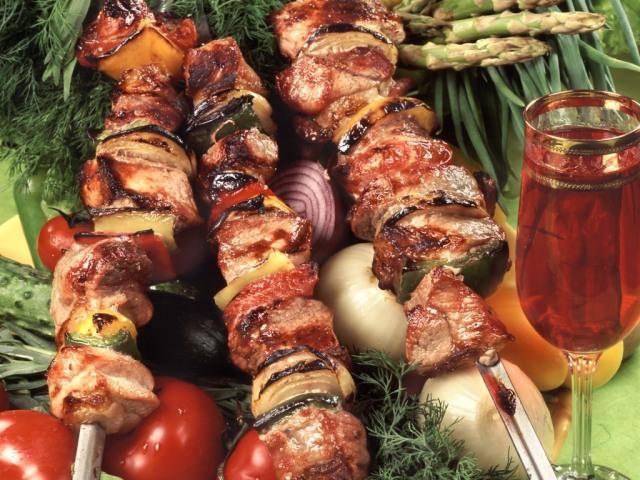 Шашлык из свинины в вине